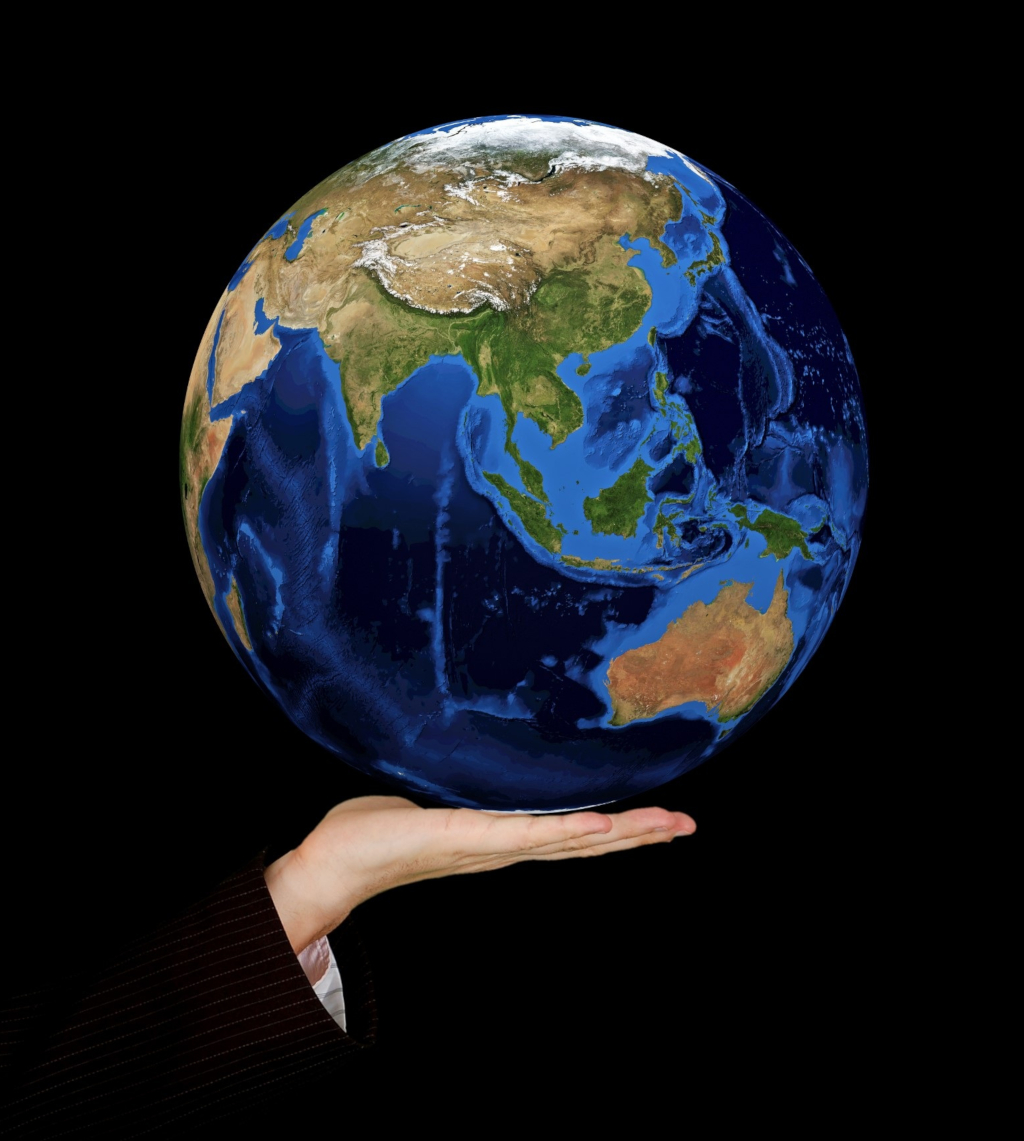 Le globe terrestre (Public Domain from Pixabay.com)