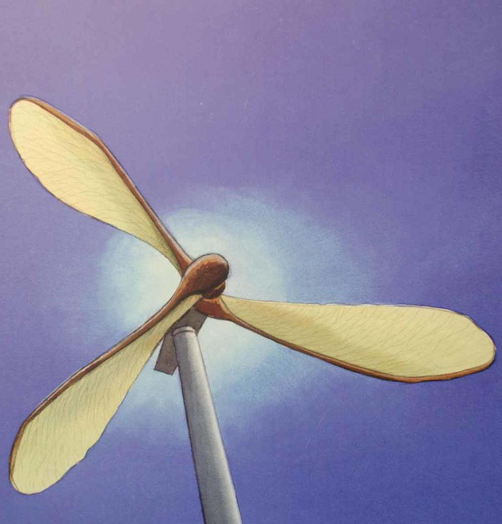 Biomimétisme. Une éolienne à ailes en forme de graines d'érable. (crédits: Bruno Parmentier / Flickr Creative Commons Attribution-NonCommercial-NoDerivs 2.0 Generic (CC BY-NC-ND 2.0))
