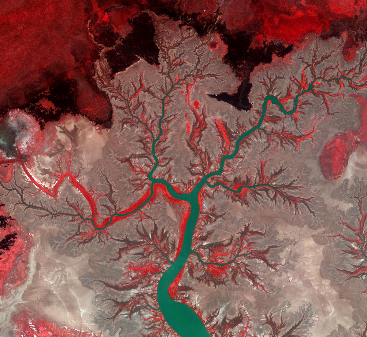 Kumbunbur Creek, Australie (Copyright KARI/ESA)