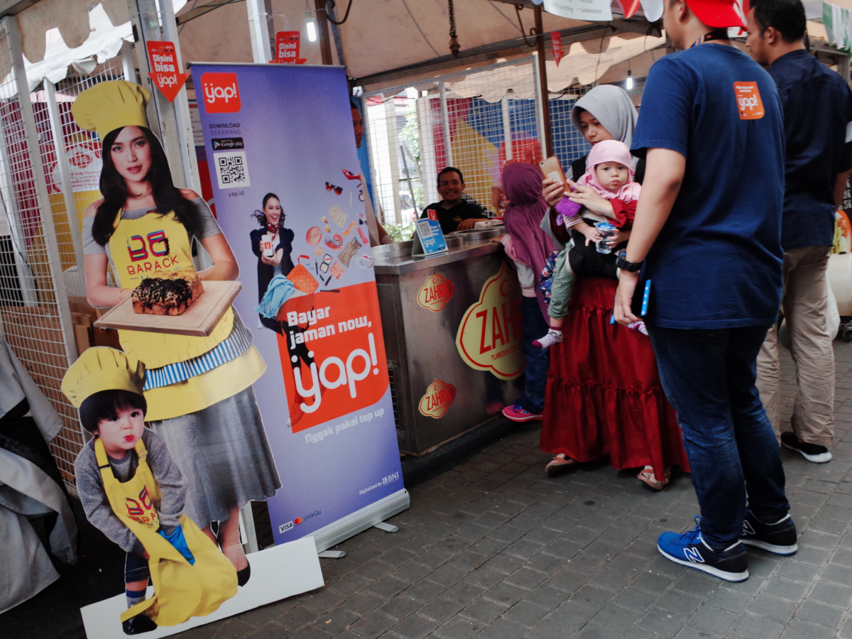 L'application de paiement électronique en Indonésie (crédits: Yosomono / Flickr Creative Commons Attribution 2.0 Generic (CC BY 2.0))