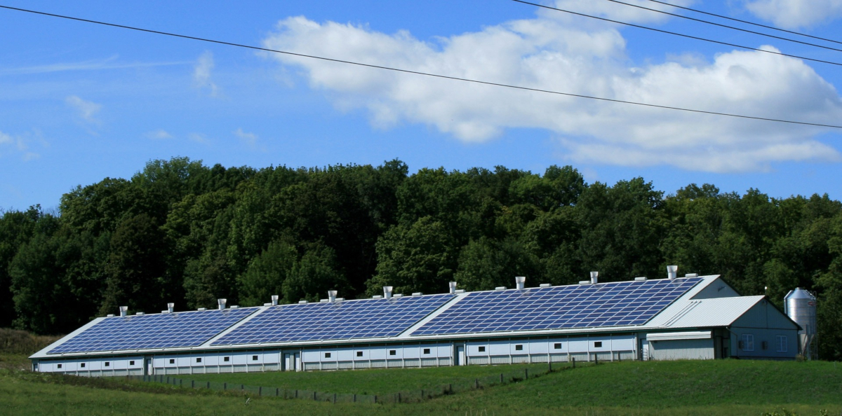 Bâtiment agricole photovoltaïque (Public Domain Pictures)