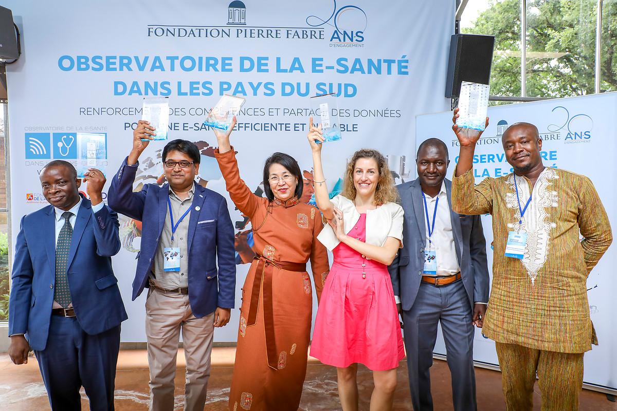 Les cinq lauréats 2019 des Prix de l'Observatoire (crédits: L'Observatoire de la E-Santé dans les Pays du Sud / La Fondation Pierre Fabre)