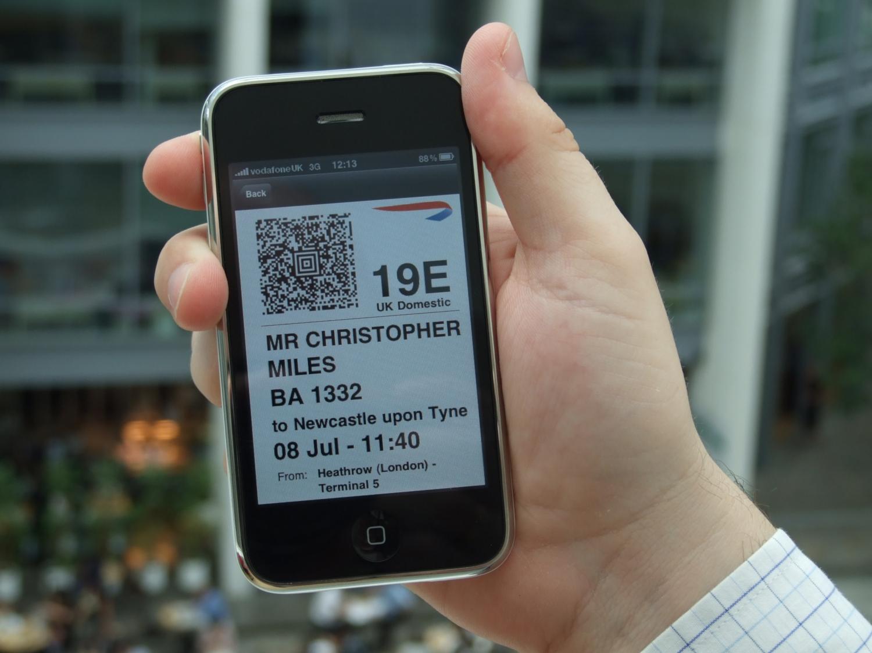 Carte d'embarquement électronique (crédits: British Airways / Flickr Creative Commons Attribution 2.0 Générique (CC BY 2.0))