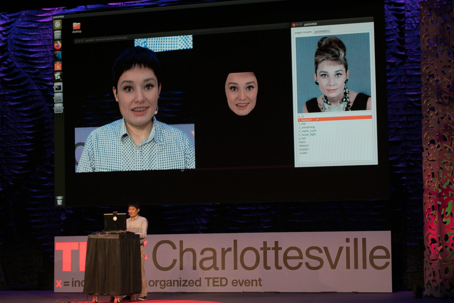 Koki Nagano discusses the future of virtual humans and deepfakes at TEDxCharlottesville in Charlottesville, Virginia on November 8, 2019. (credits: Edmond Joe / TEDx Charlottesville / Flickr Creative Commons Attribution-NonCommercial-NoDerivs 2.0 Generic (CC BY-NC-ND 2.0))