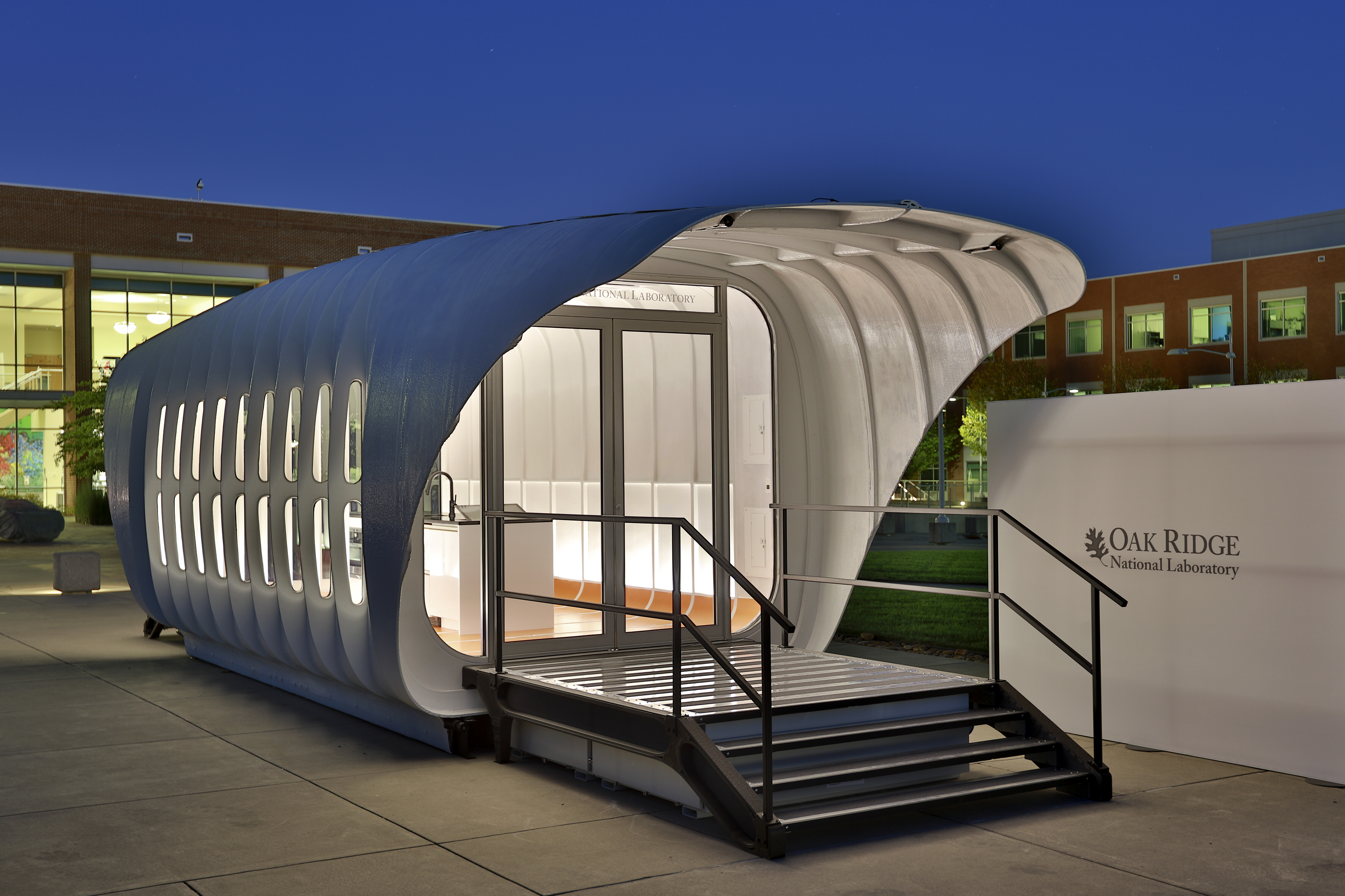 AMIE 3D-printed house (credits: Oak Ridge National Laboratory / Flickr Creative Commons Attribution 2.0 Generic (CC BY 2.0)