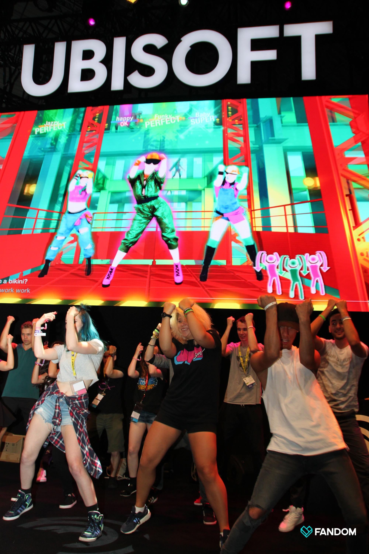 Just Dance (Ubisoft) at FANDOM Gamescom 2018 (credits: Tim Bartel / Flickr Creative Commons Attribution-ShareAlike 2.0 Generic (CC BY-SA 2.0))