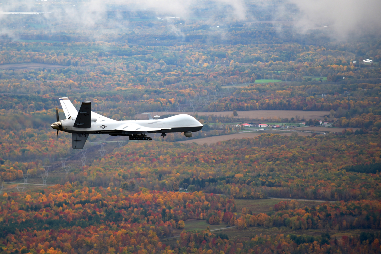 Drone MQ-9 Reaper de la Garde nationale de New York (crédits: U.S. Air National Guard Photo by Master Sgt. Eric Miller / Flickr Creative Commons Attribution 2.0 Générique (CC BY 2.0))