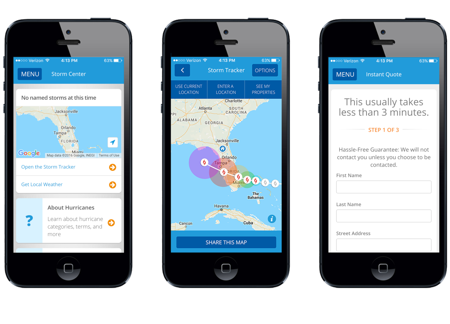 The Security First Mobile app has tools to help you prepare for storm season and track hurricanes on a custom map. (credits: PointSource / ibmphoto24 / Flickr Creative Commons Attribution-NonCommercial-NoDerivs 2.0 Generic (CC BY-NC-ND 2.0))