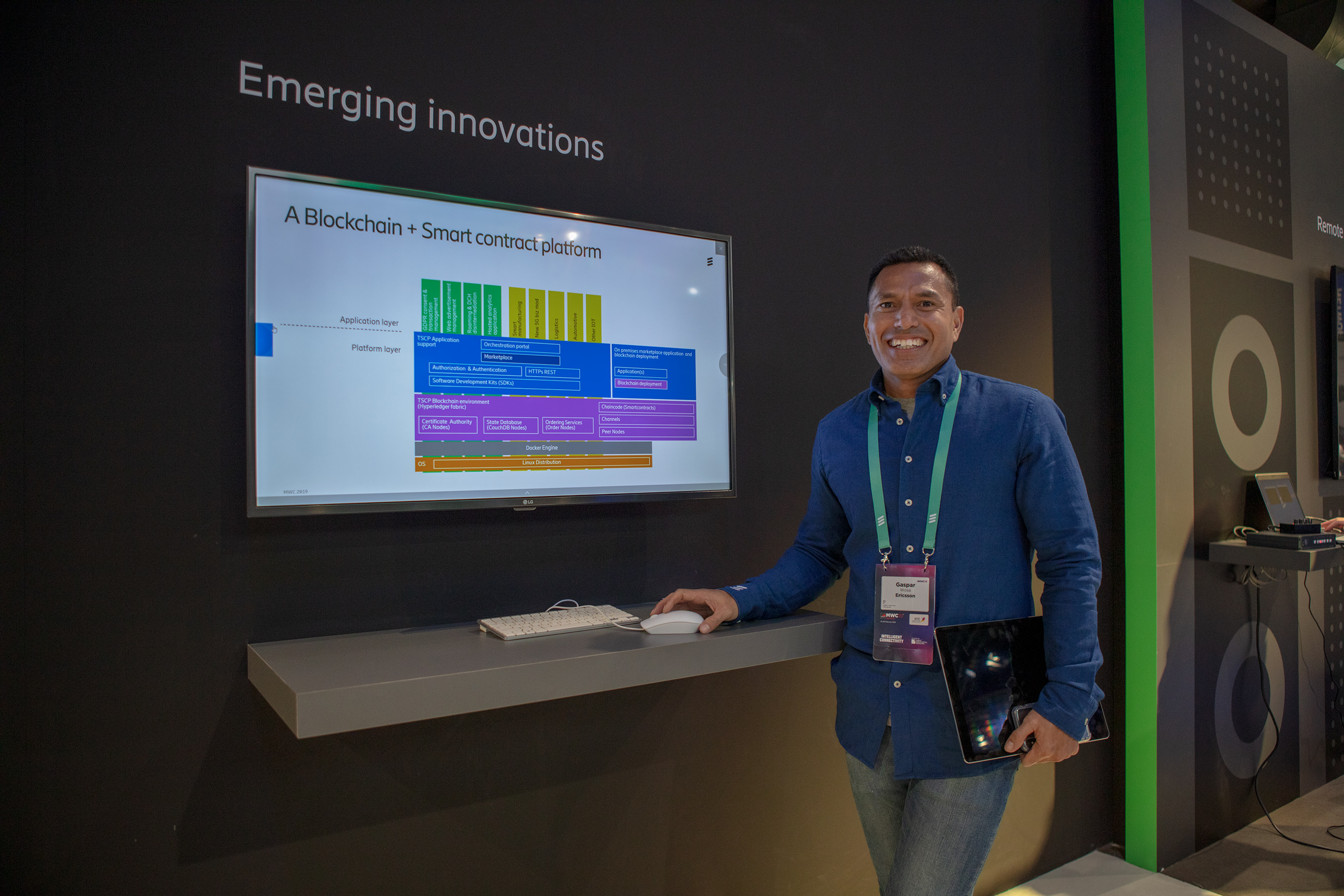 Smart contract platform for service providers presented at MWC 2019 (credits: Ericsson / Flickr Creative Commons Attribution-NonCommercial-NoDerivs 2.0 Generic (CC BY-NC-ND 2.0))