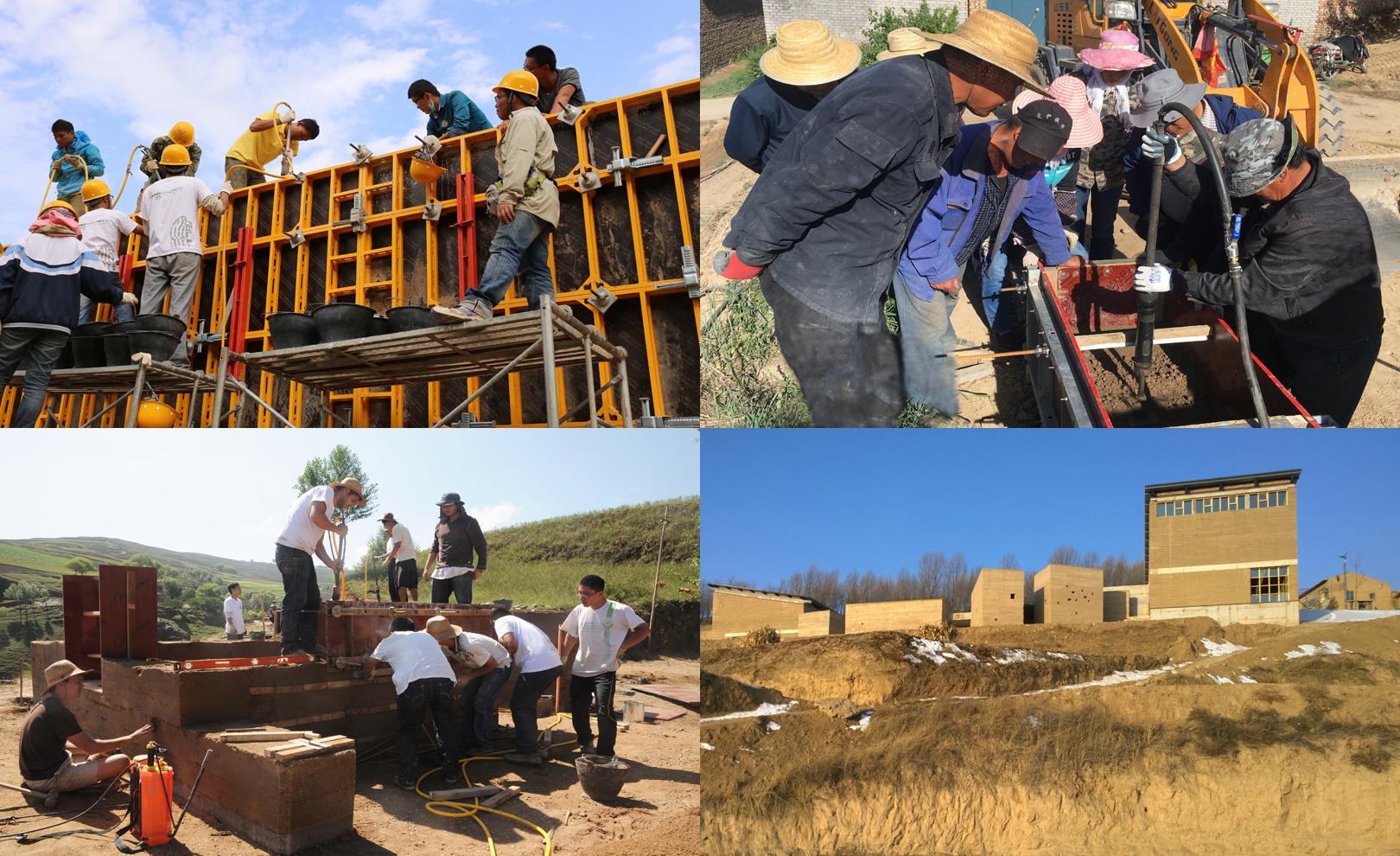 Bronze 2019 - Formation d'artisans locaux en constructions en terre en Chine rurale. (crédits: World Habitat)