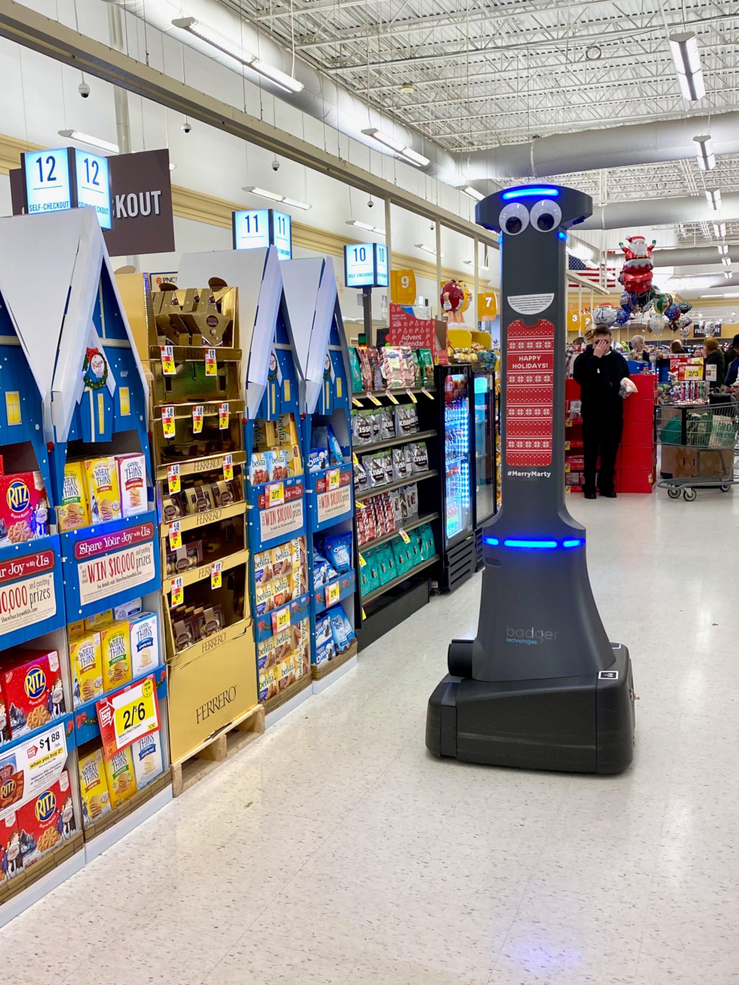 Robot de sécurité chez Stop & Shop (crédits: Scott Beale / Flickr Creative Commons Attribution - Pas d'Utilisation Commerciale - Pas de Modification 2.0 Générique (CC BY-NC-ND 2.0))
