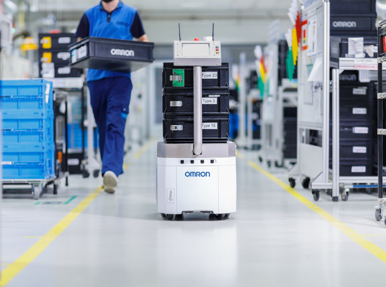 OMRON's mobile robot (credits: PressReleaseFinder / Flickr Creative Commons Attribution-NonCommercial-NoDerivs 2.0 Generic (CC BY-NC-ND 2.0))