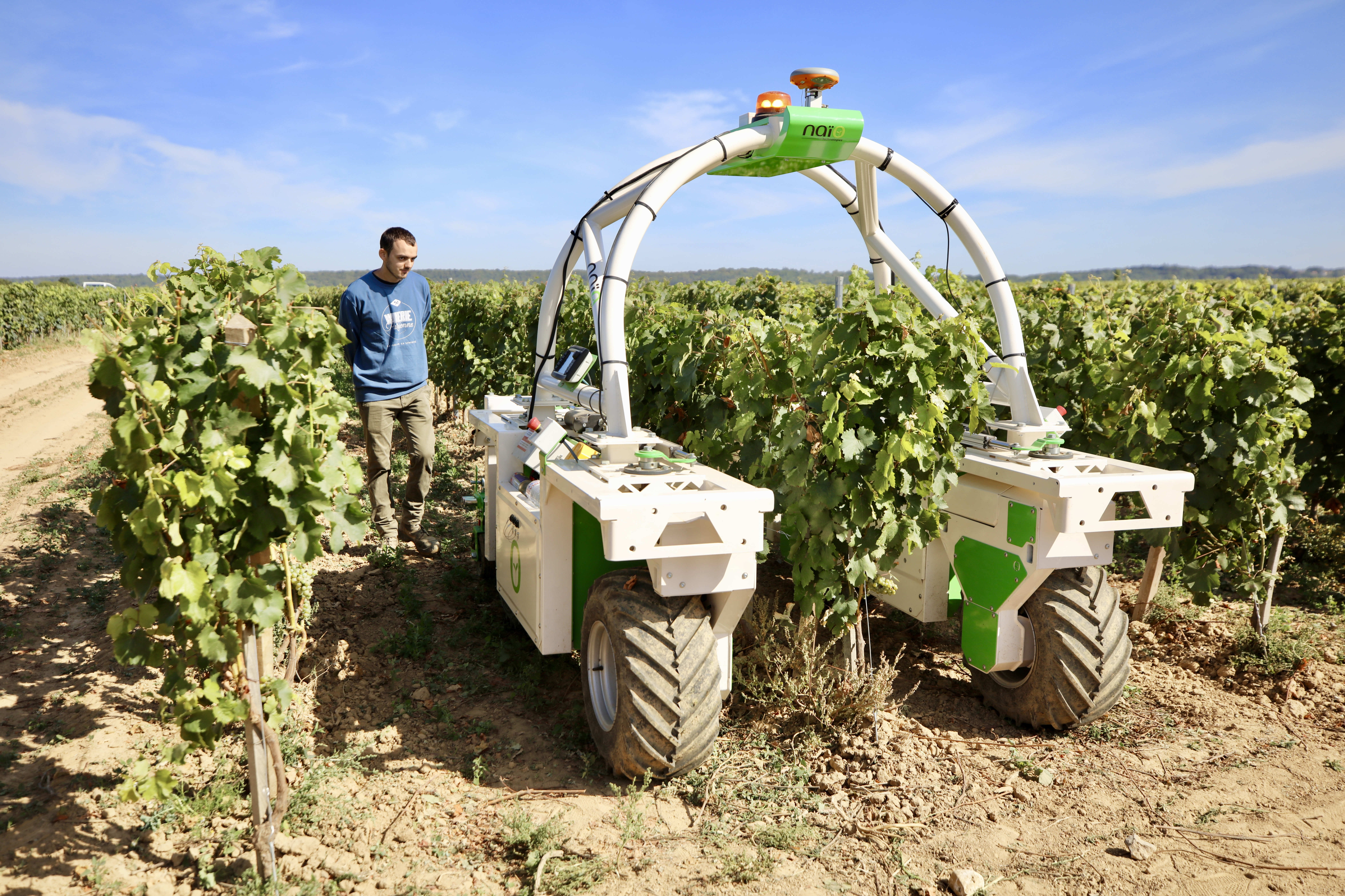Naïo Technologies's Autonomous electric vineyards robot  (credits: Nicolas DUPREY / CD 78 / Flickr Creative Commons Attribution-NoDerivs 2.0 Generic (CC BY-ND 2.0))