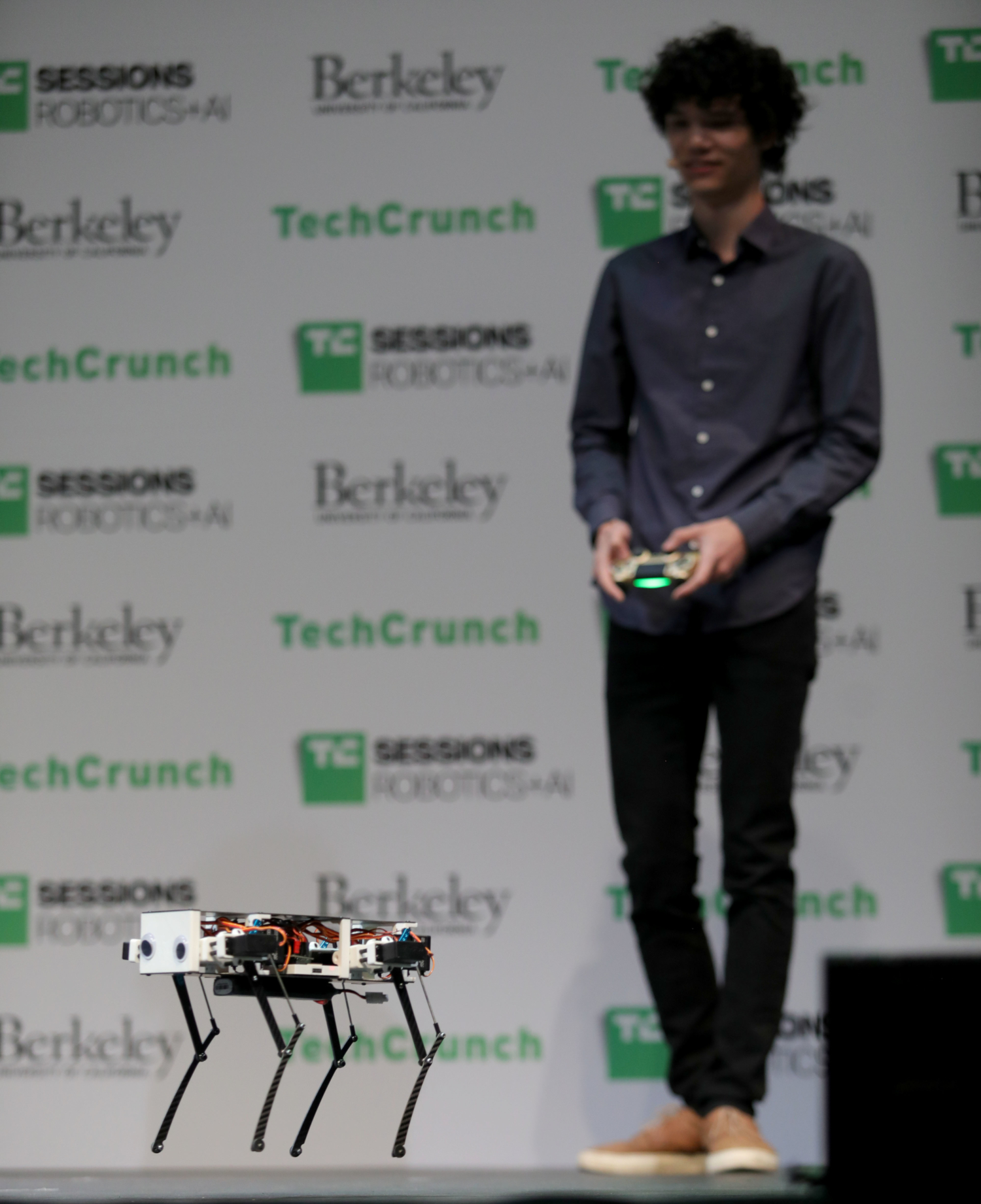 Robot presented at TC Sessions: Robotics + AI 2020 at Zellerbach Hall in Berkeley, CA on March 3, 2020 (credits: Max Morse for TechCrunch / Flickr Creative Commons Attribution 2.0 Generic (CC BY 2.0))