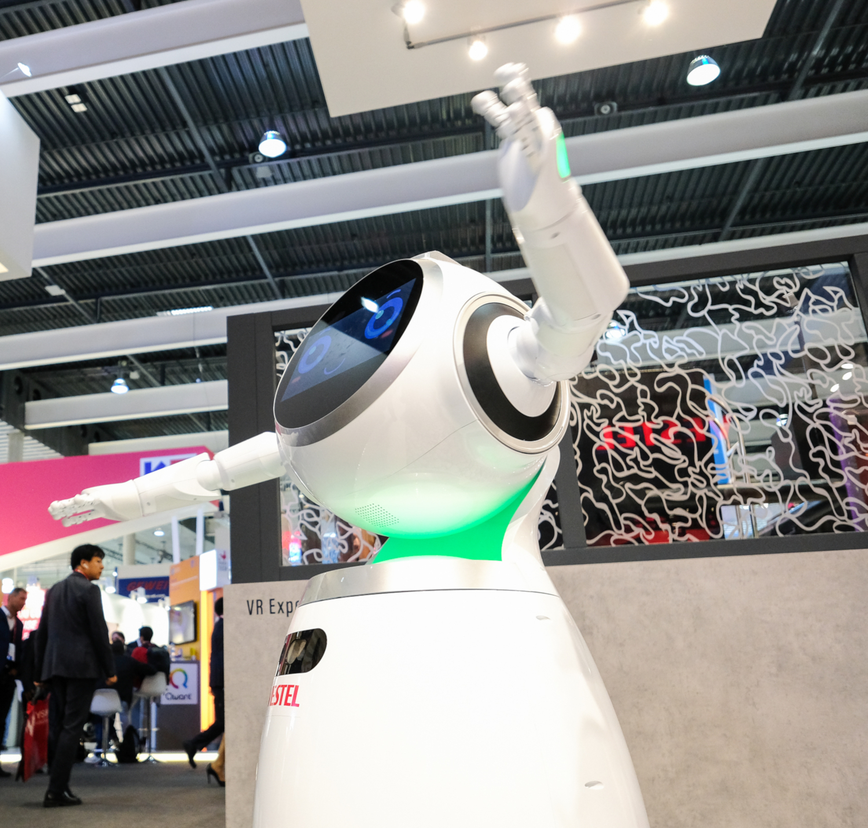 Robot présenté au Mobile World Congress 2018 (crédits: Kārlis Dambrāns / Flickr Creative Commons Attribution 2.0 Générique (CC BY 2.0))